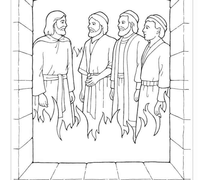 678x600 Unique Fiery Furnace Coloring Page Shadrach Meshach And Abednego