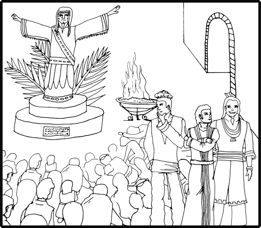 900x788 Shadrach Meshach Abednego Coloring Pages Shadrach Meshach