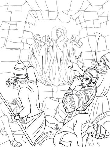 360x480 Shadrach Meshach Abednego Coloring Page Shadrach Meshach
