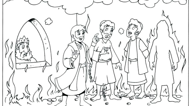 770x430 Shadrach Meshach And Abednego Coloring Page Murs