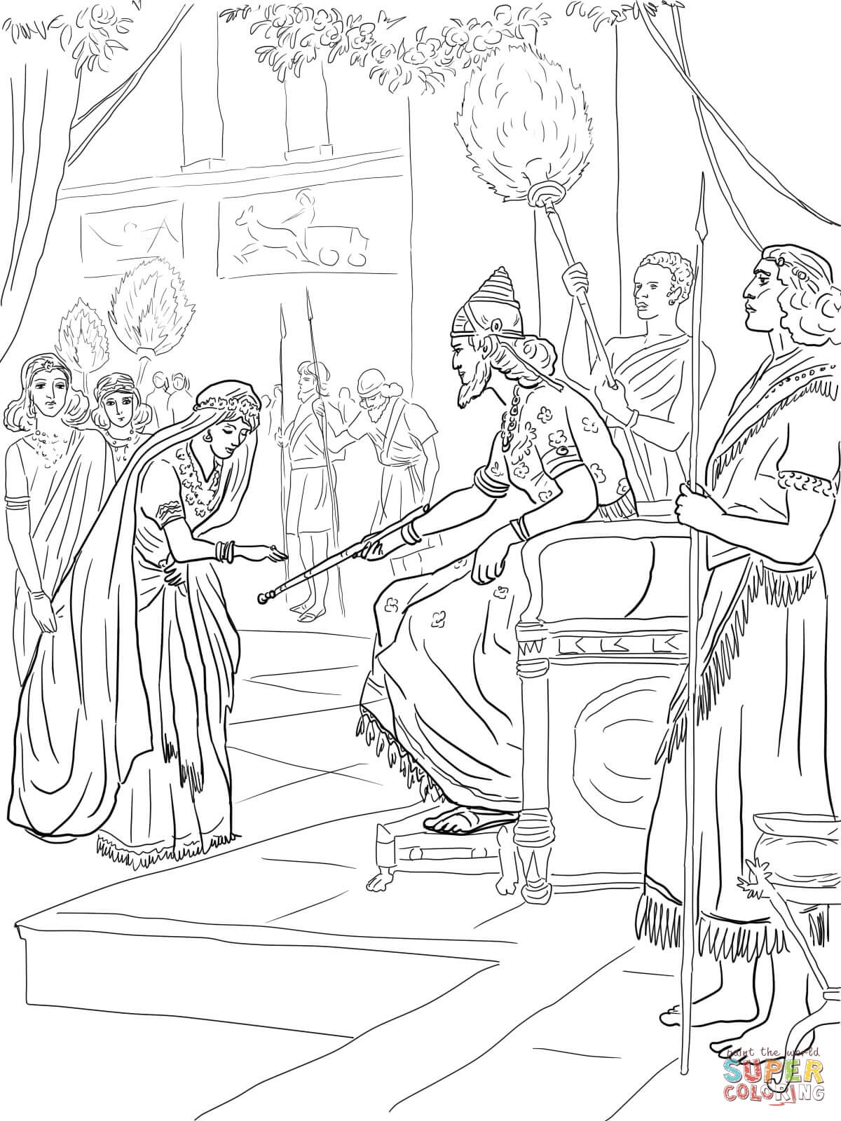 1200x1600 Coloring Page Of Shadrach Meshach And Abednego