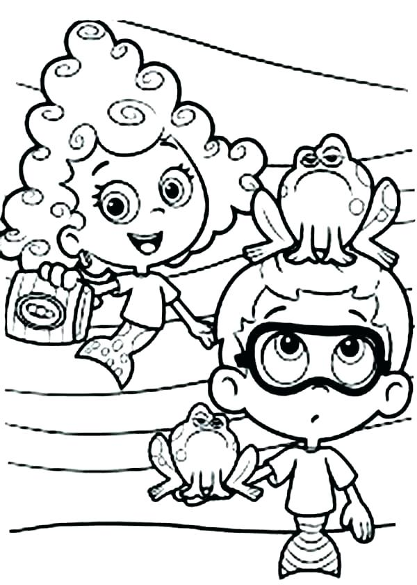 600x840 Bubble Guppies Coloring Pages Bubble Guppies Molly Show His