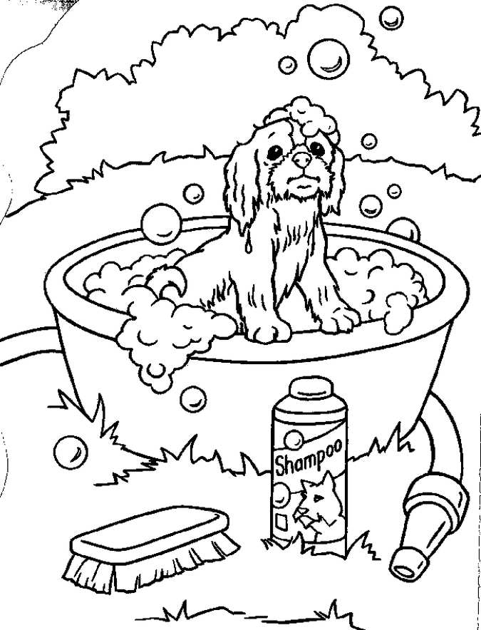 675x884 Puppy Coloring Pages