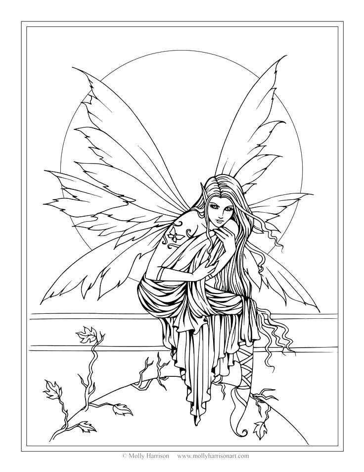 736x952 Amy Brown Coloring Pages