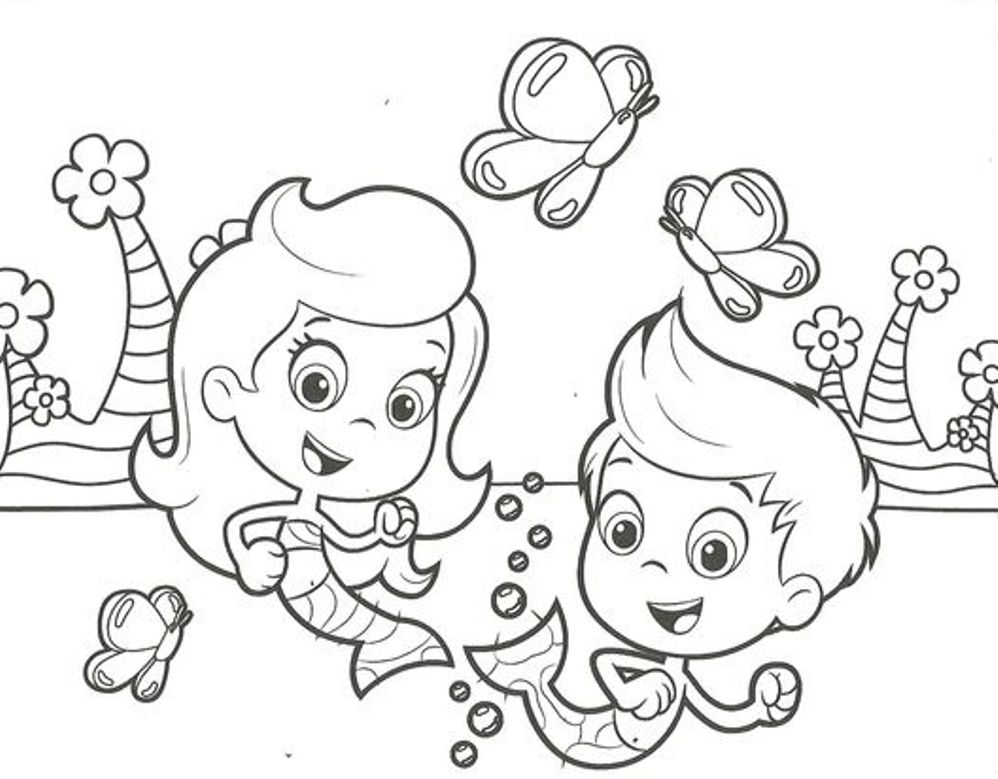 998x779 Bubble Guppies Gil Coloring Page Image Clipart Images