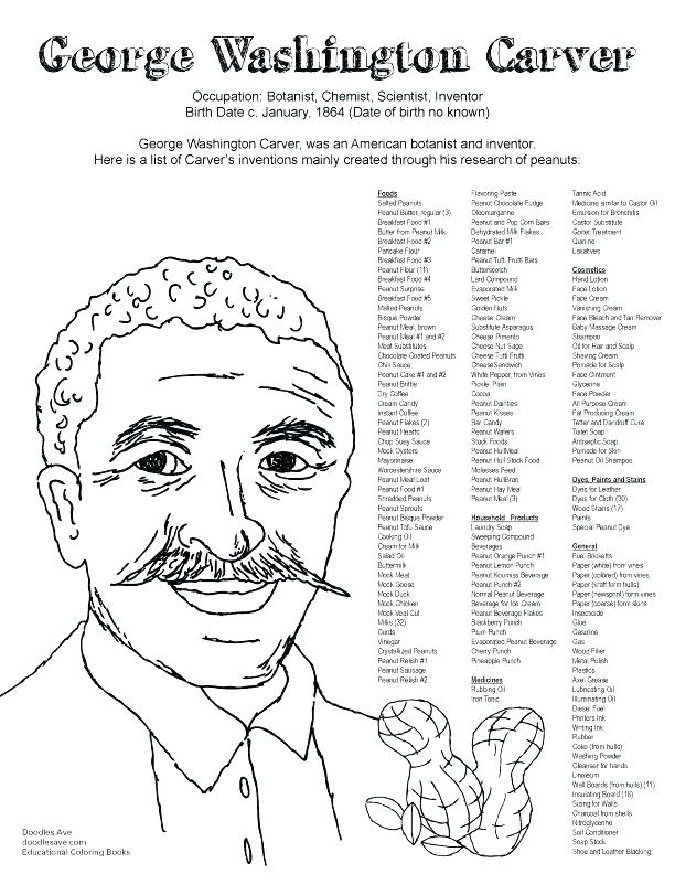 612x792 Coloring Pages Of George Washington Carver Coloring Page Coloring