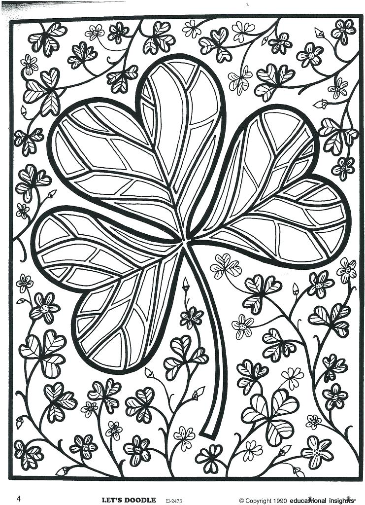 741x1024 Shamrock Coloring Page Holy Trinity Coloring Pages Holy Trinity