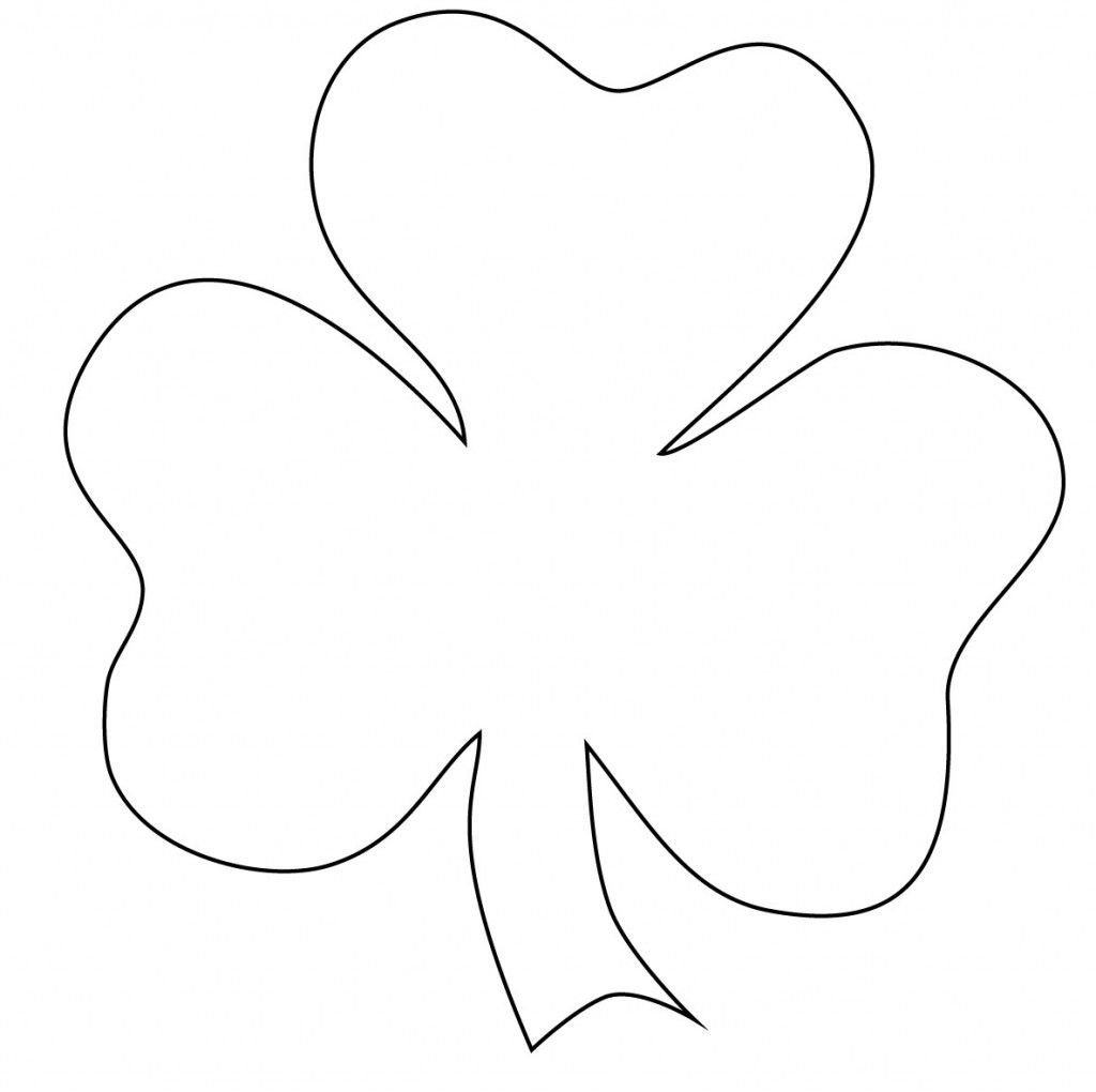 Shamrock Coloring Page at GetDrawings | Free download