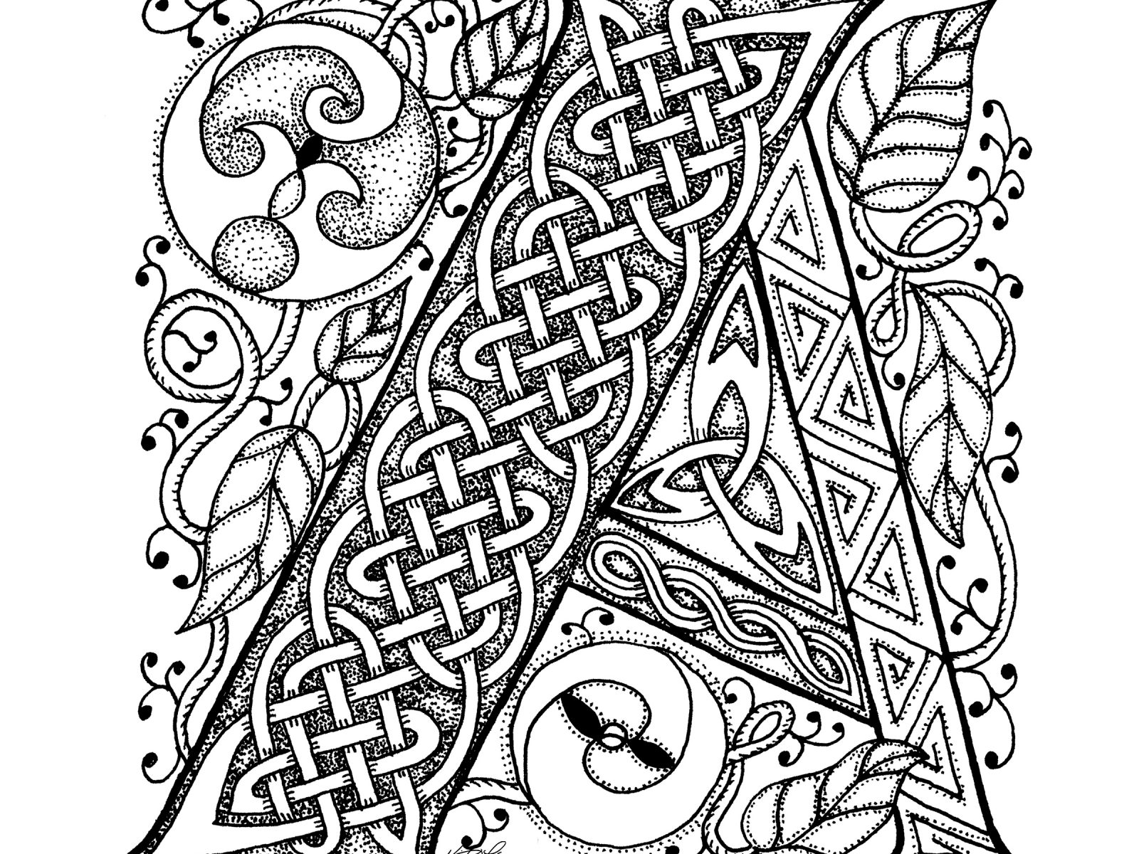 Shamrock Coloring Pages For Adults at GetDrawings | Free ...