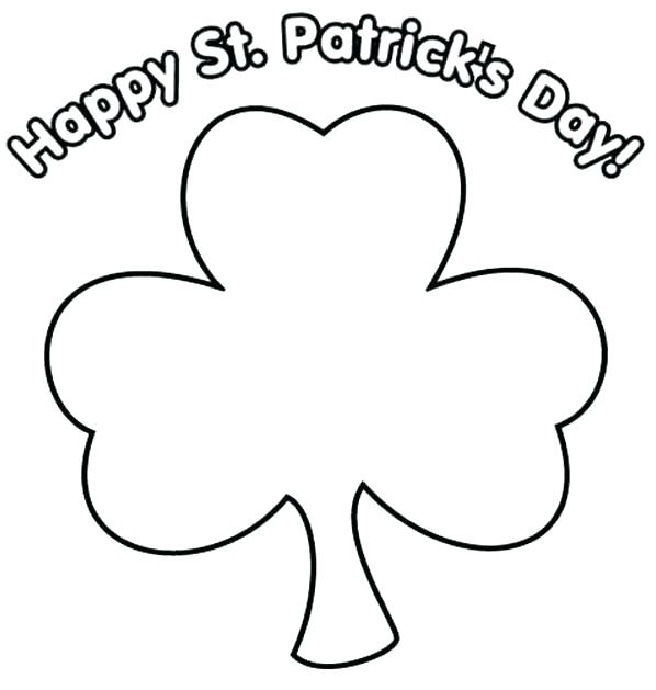 598x629 Shamrock Color Pages Clover Coloring Page Printable Shamrock