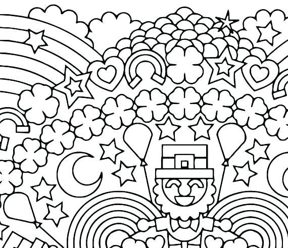 570x491 Shamrock Mandala Coloring Page Shamrocks Coloring Pages Shamrock