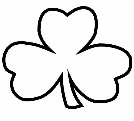 561x507 Shamrock Coloring Pages To Print Best Shamrock Coloring Page
