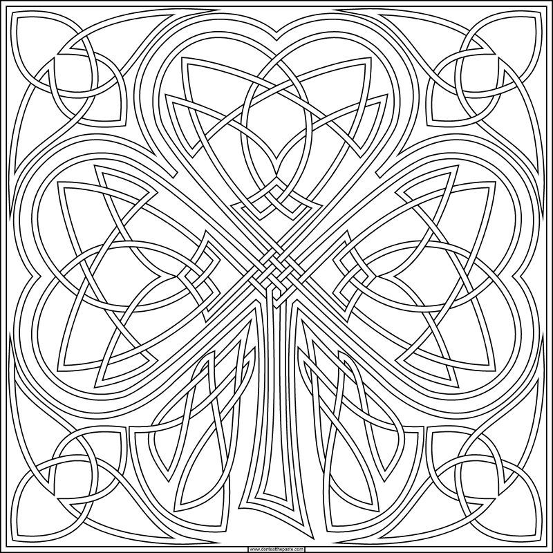 Shamrock Coloring Pages Free