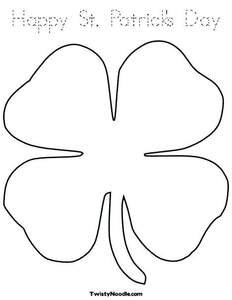 468x605 Printable Shamrock Coloring Pages Good Luck Shamrock Leaf Clover
