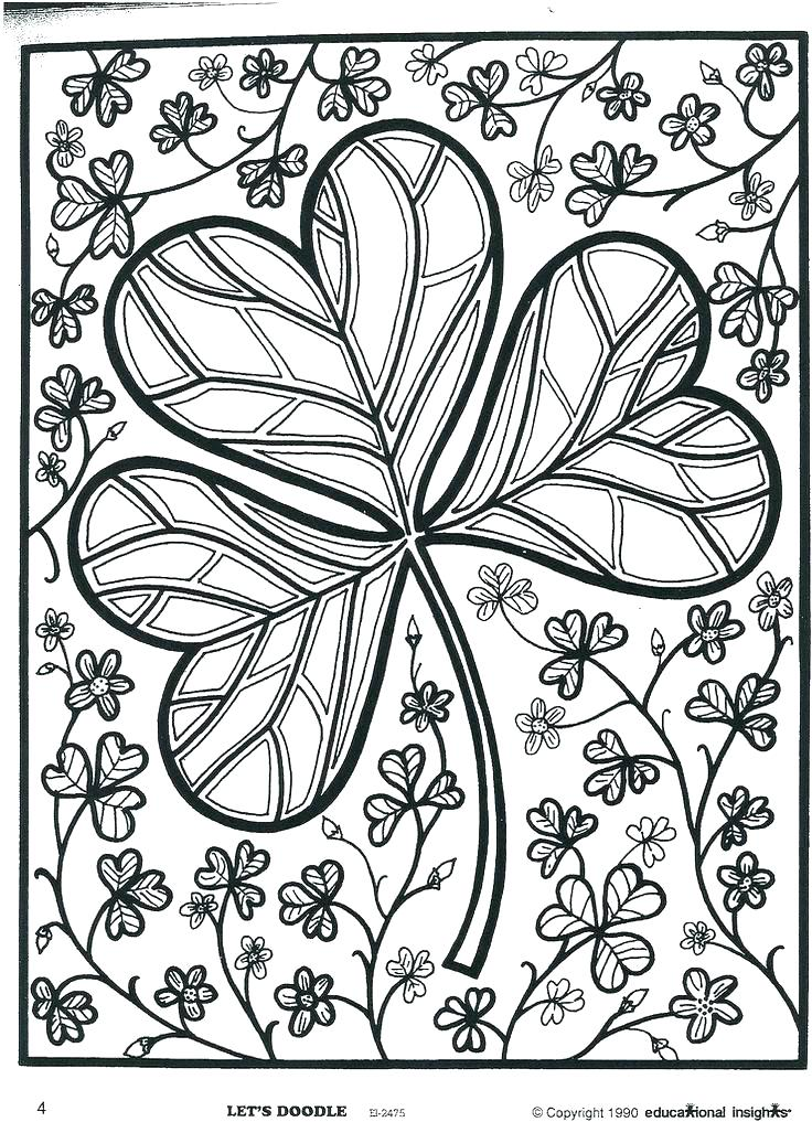 Shamrock Coloring Pages Free At Getdrawings Com Free For Personal