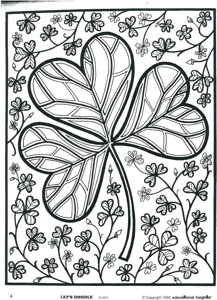 736x1017 Shamrock Coloring Page Coloring Page Shamrock Shamrocks Coloring