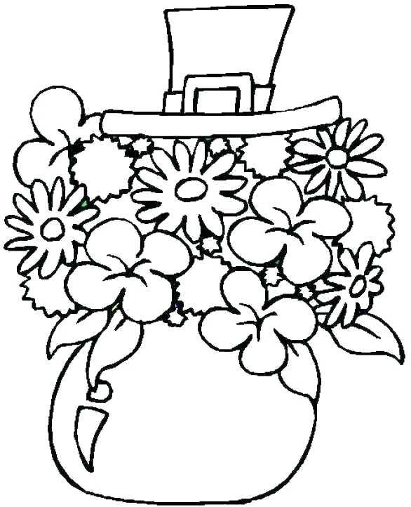 586x722 Shamrock Pattern Coloring Page Free Printable Pages On Shamrock