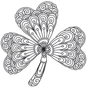 Shamrock Coloring Pages Free at GetDrawings.com | Free for ...