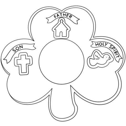 480x480 Shamrock Holy Trinity Coloring Page Holy Trinity Coloring Pages
