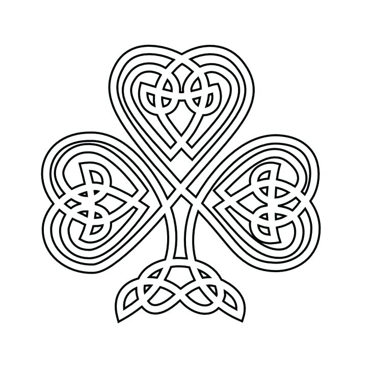 728x728 Free Shamrock Coloring Pages Shamrock Coloring Pages Free