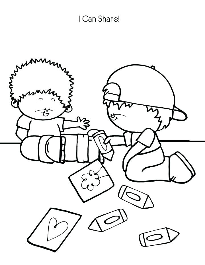 720x931 Sharing Coloring Page Auto B Good Coloring Pages Sharing Coloring
