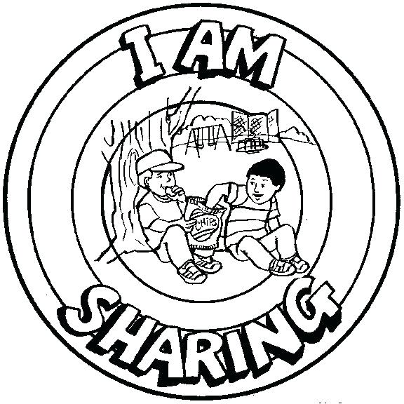 576x576 Sharing Coloring Page I Am Sharing Free Printable Coloring Pages