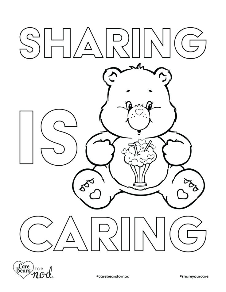 736x952 Sharing Coloring Page Printable Care Bears Coloring Pages Sharing
