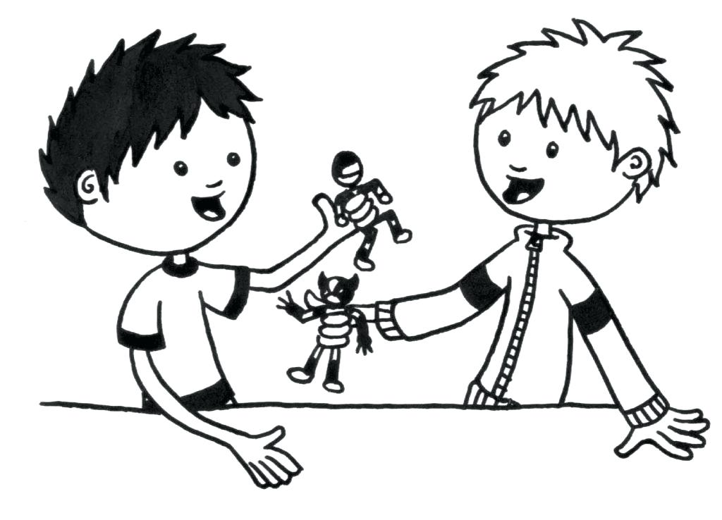 1024x738 Sharing Coloring Page Sharing Coloring Page Sharing And Caring