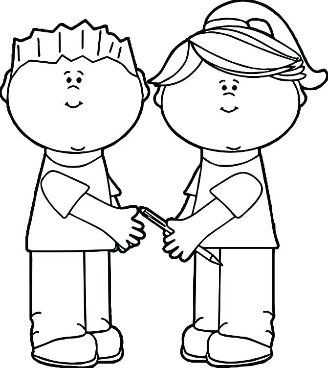 671x751 Sharing Coloring Pages Sharing Coloring Pages Color Bros Sharing
