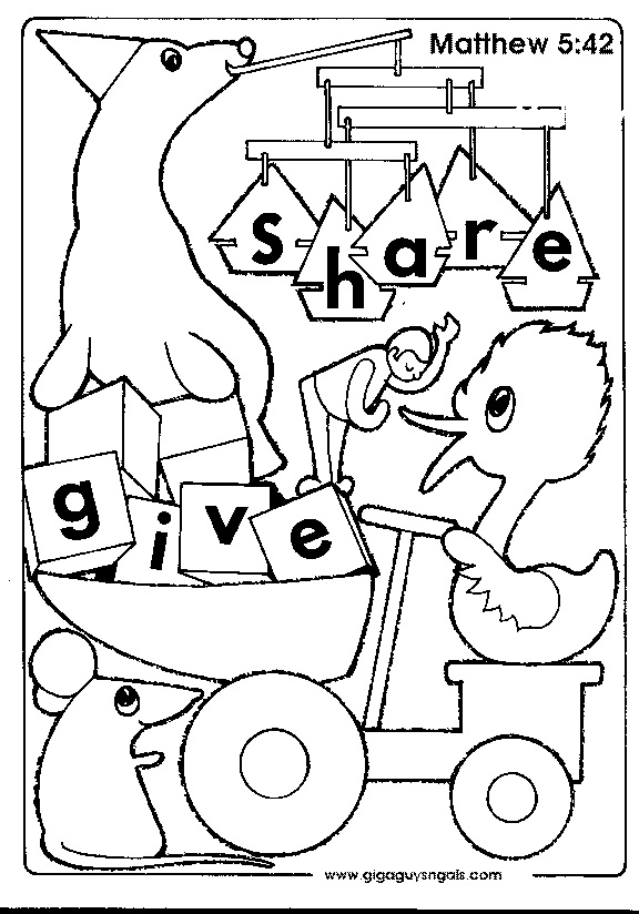 576x824 Sharing Toys Coloring Page, Sharing Toys Coloring Pages This