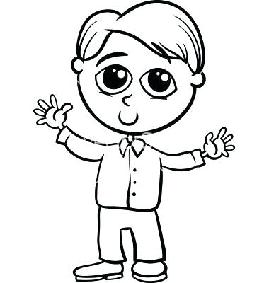 380x400 Excellent Boy Coloring Page Boy Coloring Picture Coloring Pages