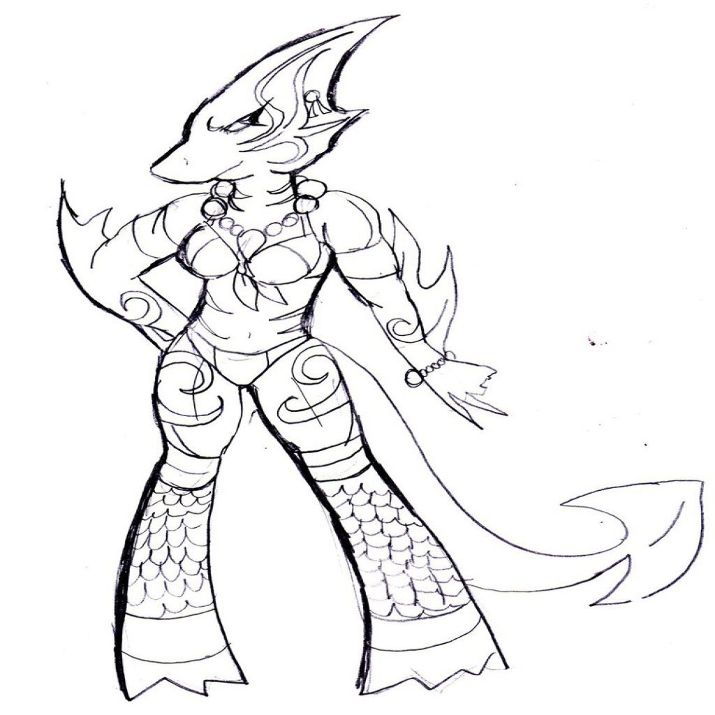 1024x1024 Simplified Sharkboy And Lavagirl Coloring Page
