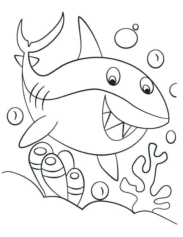 612x792 Shark Coloring Pages Great White Shark Coloring Pages Pin Drawn