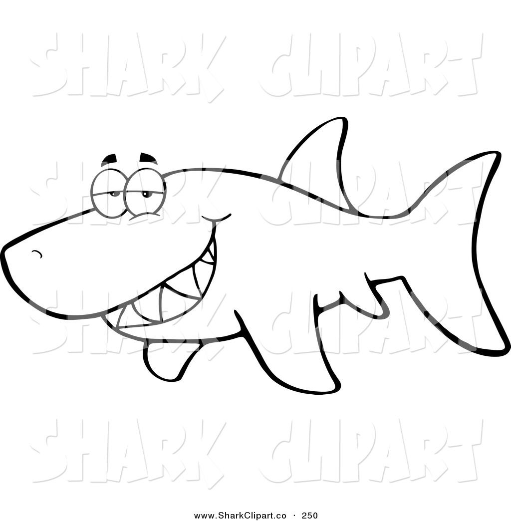 1024x1044 Shark Coloring Page