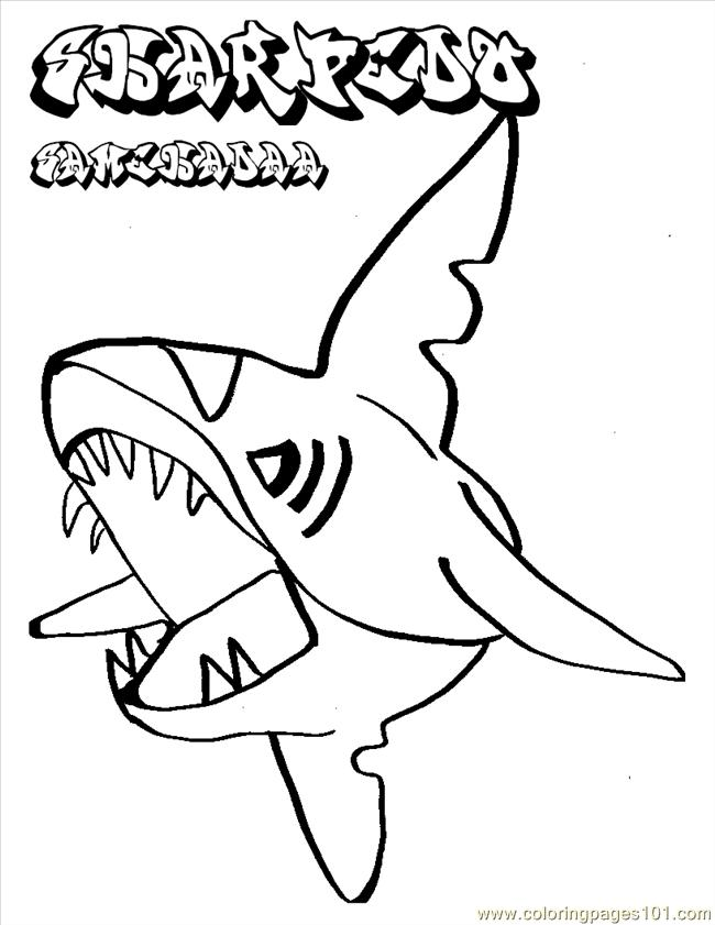 650x841 Shark Coloring Pages Online