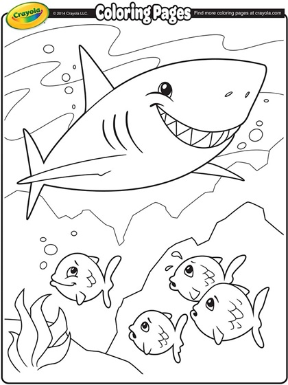 420x560 Shark Coloring Picture
