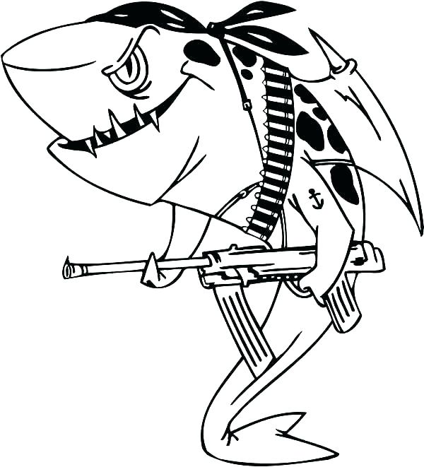 600x661 Shark Coloring Pages Free Shark Color Pages Shark Shark Coloring