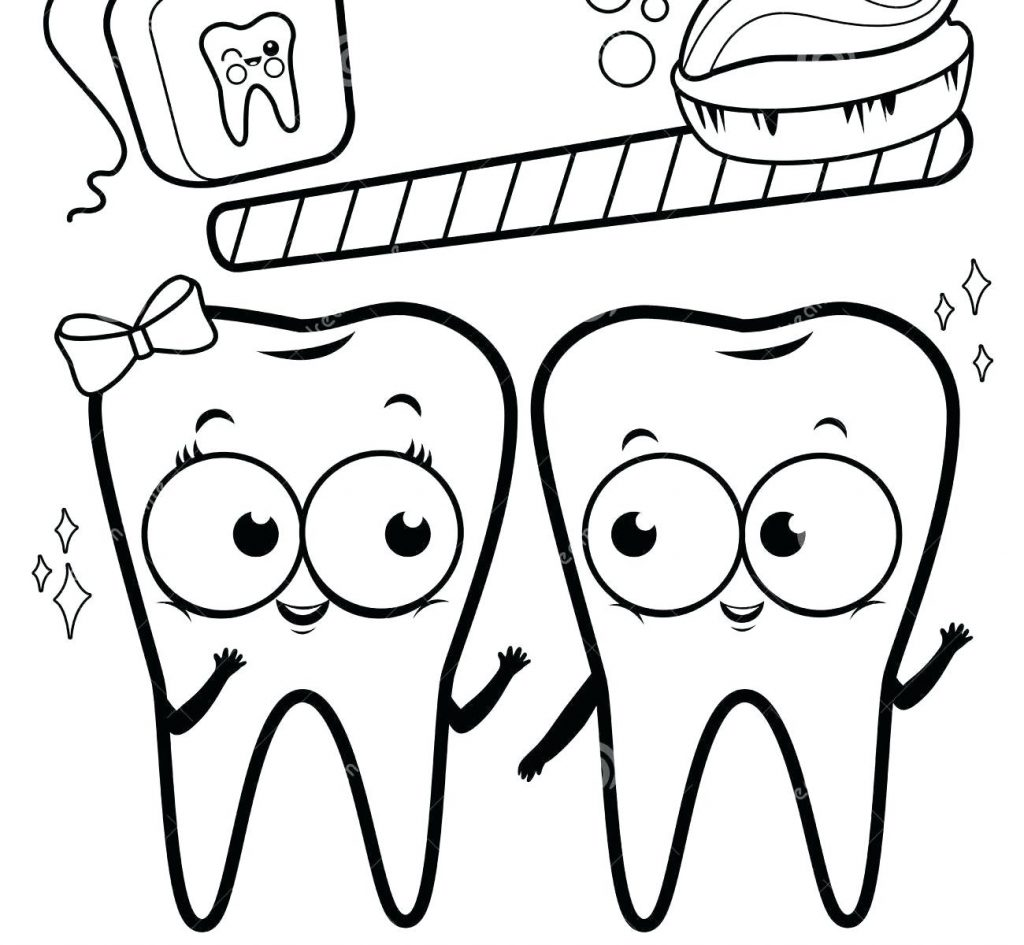 1024x945 Teeth Coloring Pages