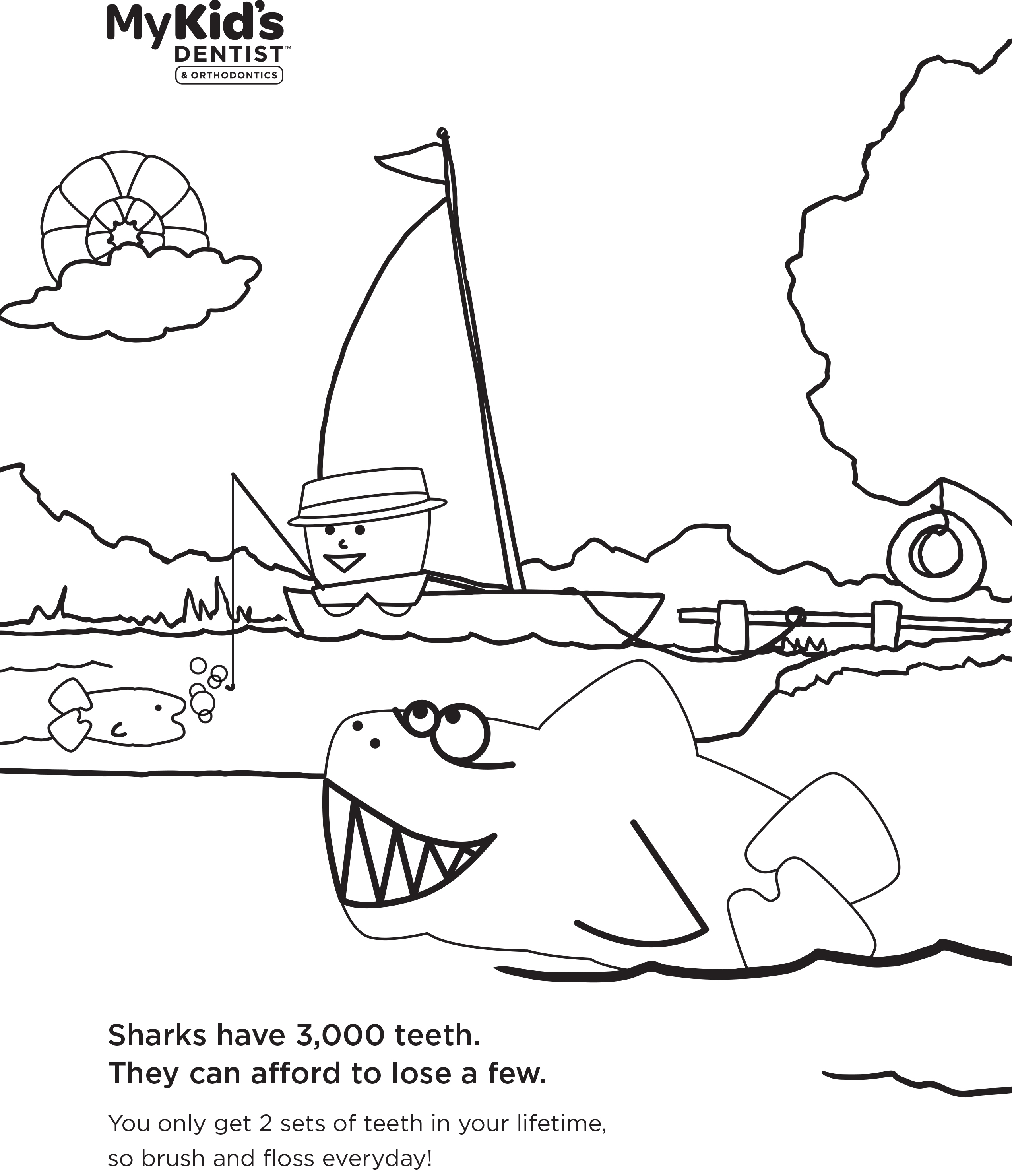 2546x2958 Authentic Shark Teeth Coloring Pages Colorful