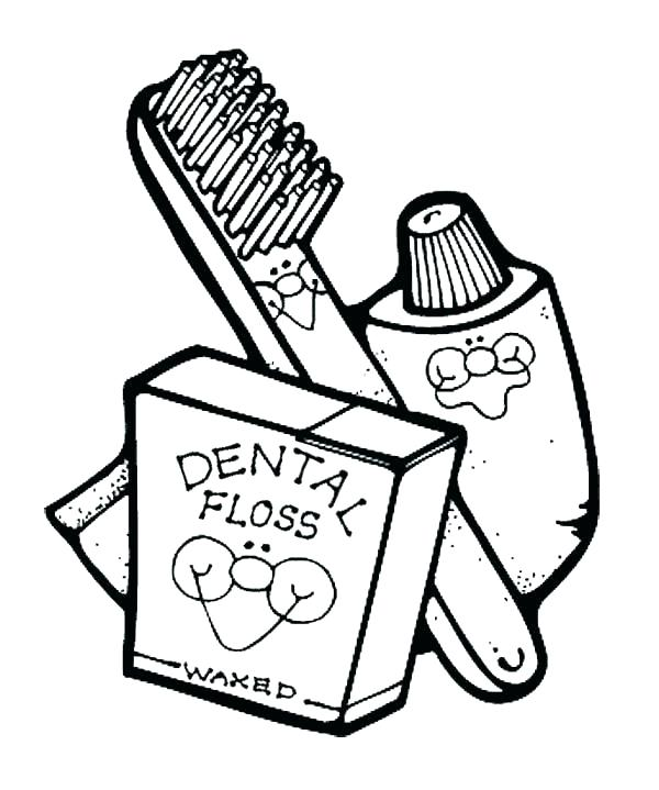 600x719 Teeth Coloring Pages