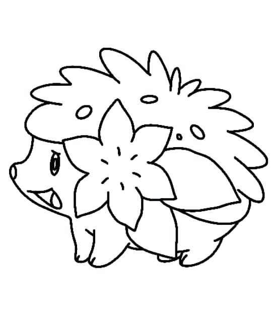 540x623 Shaymin Coloring Pages Coloring Page Shaymin Sky Form Coloring