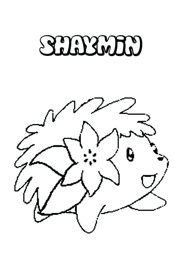 600x849 Shaymin Coloring Pages Sky Form Sketch