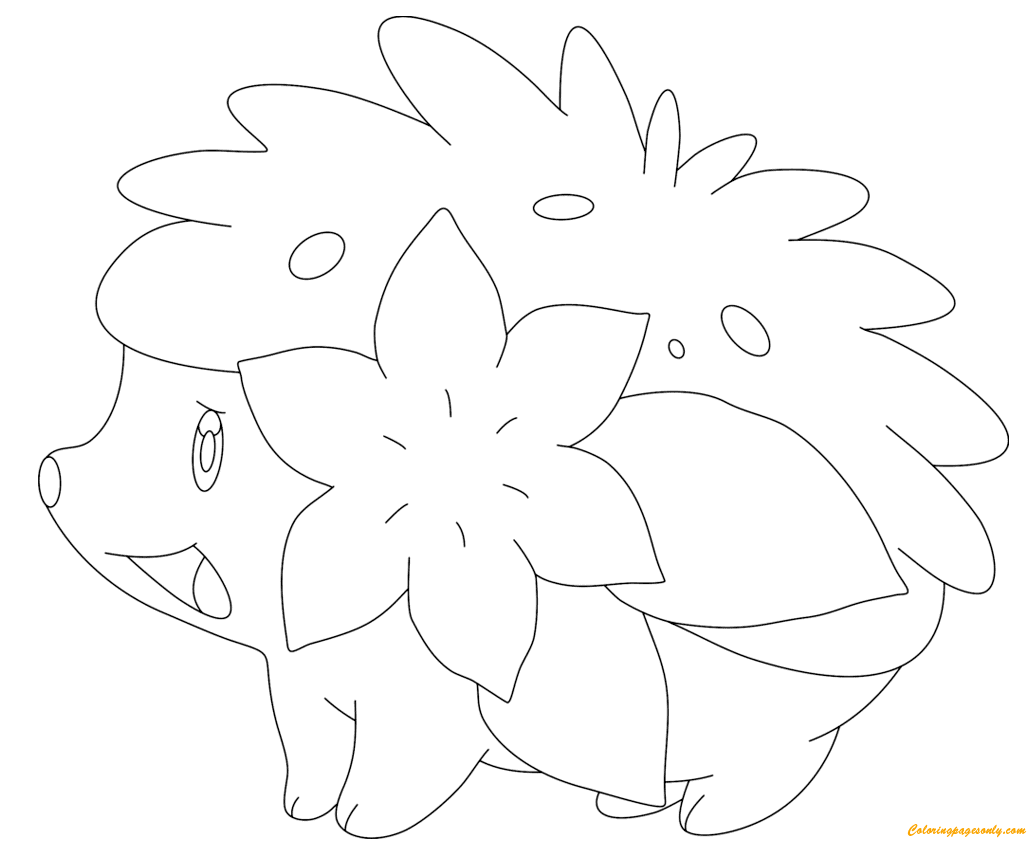 1027x849 Shaymin In Land Form Coloring Page