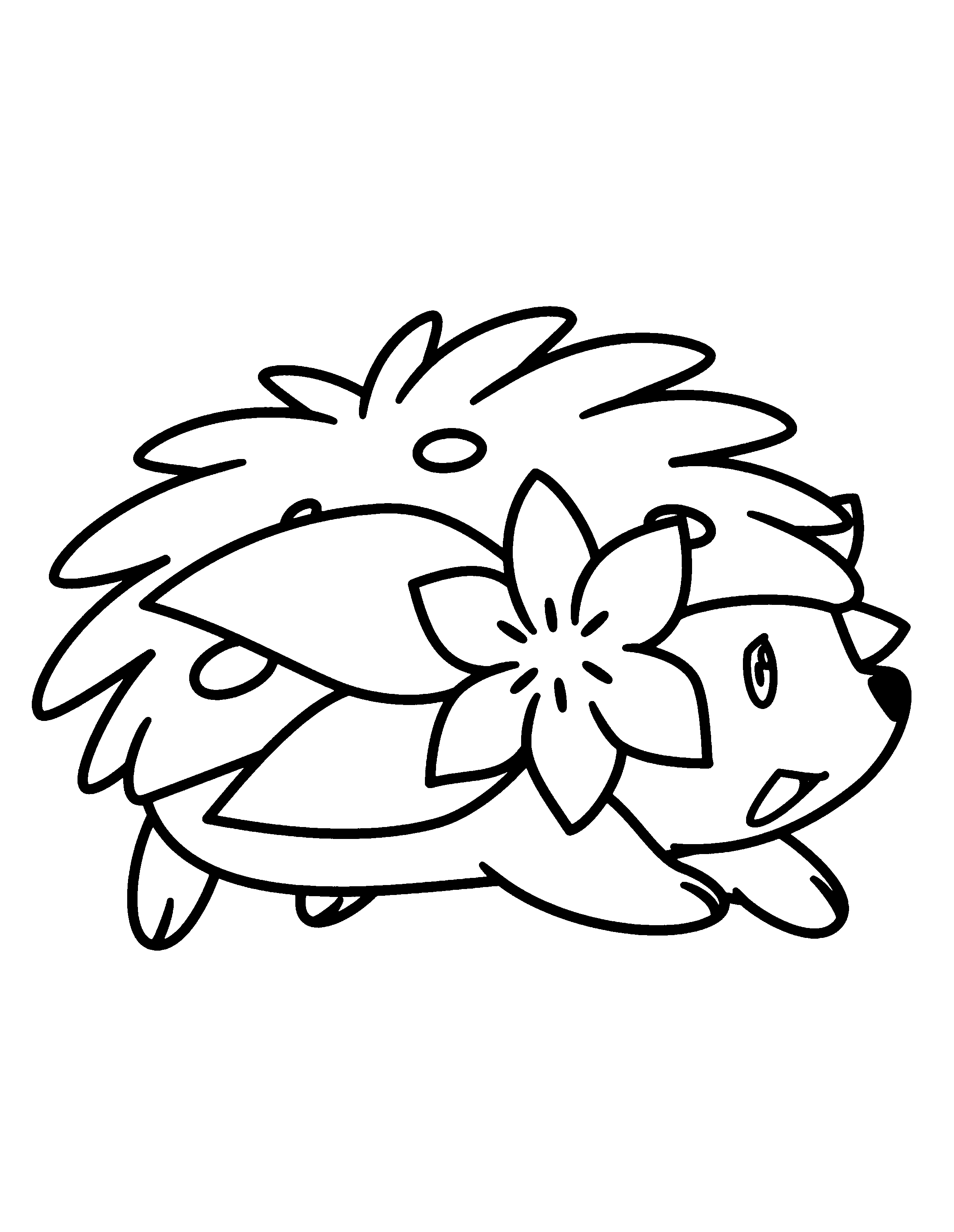2400x3100 Shaymin Pokemon Character Free Coloring Page Animals, Kids