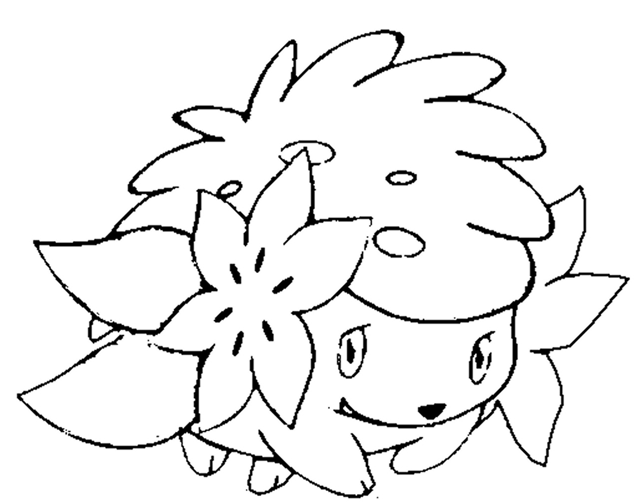 1282x1012 Pokemon Shaymin Coloring Page Embroidery