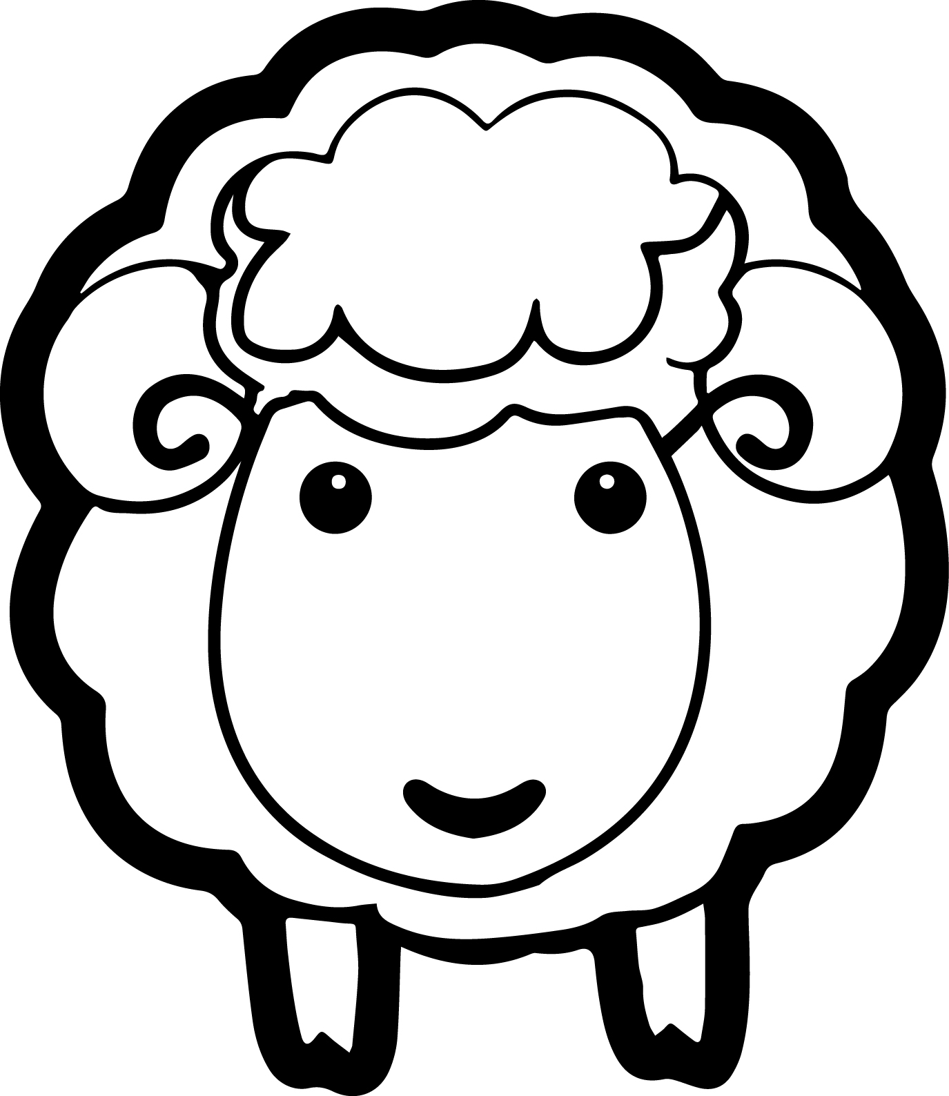 1375x1588 Innovative Sheep Coloring Pages To Print Year