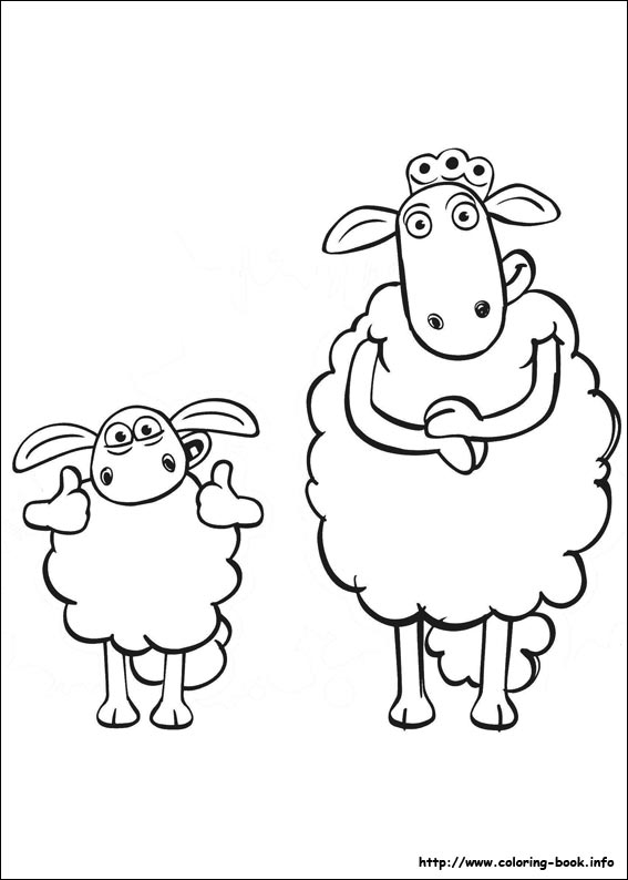 567x794 Shaun The Sheep Coloring Pages Printable