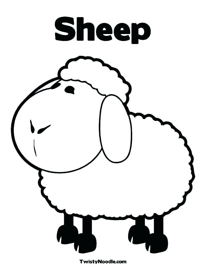 Sheep Coloring Pages To Print at GetDrawings.com | Free for ...