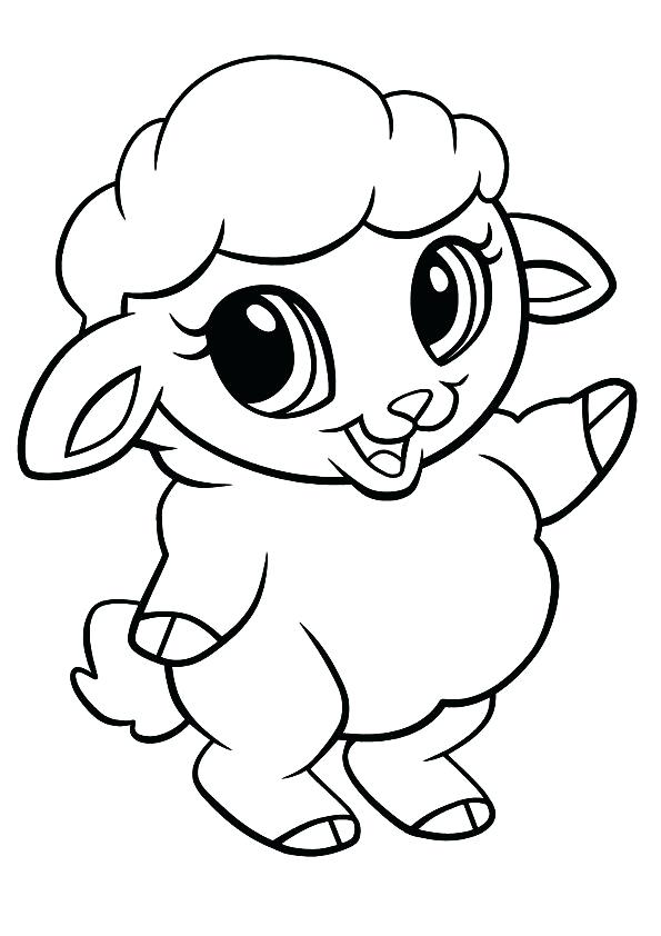 595x842 Sheep Coloring Page Cute Sheep Coloring Pages Printable