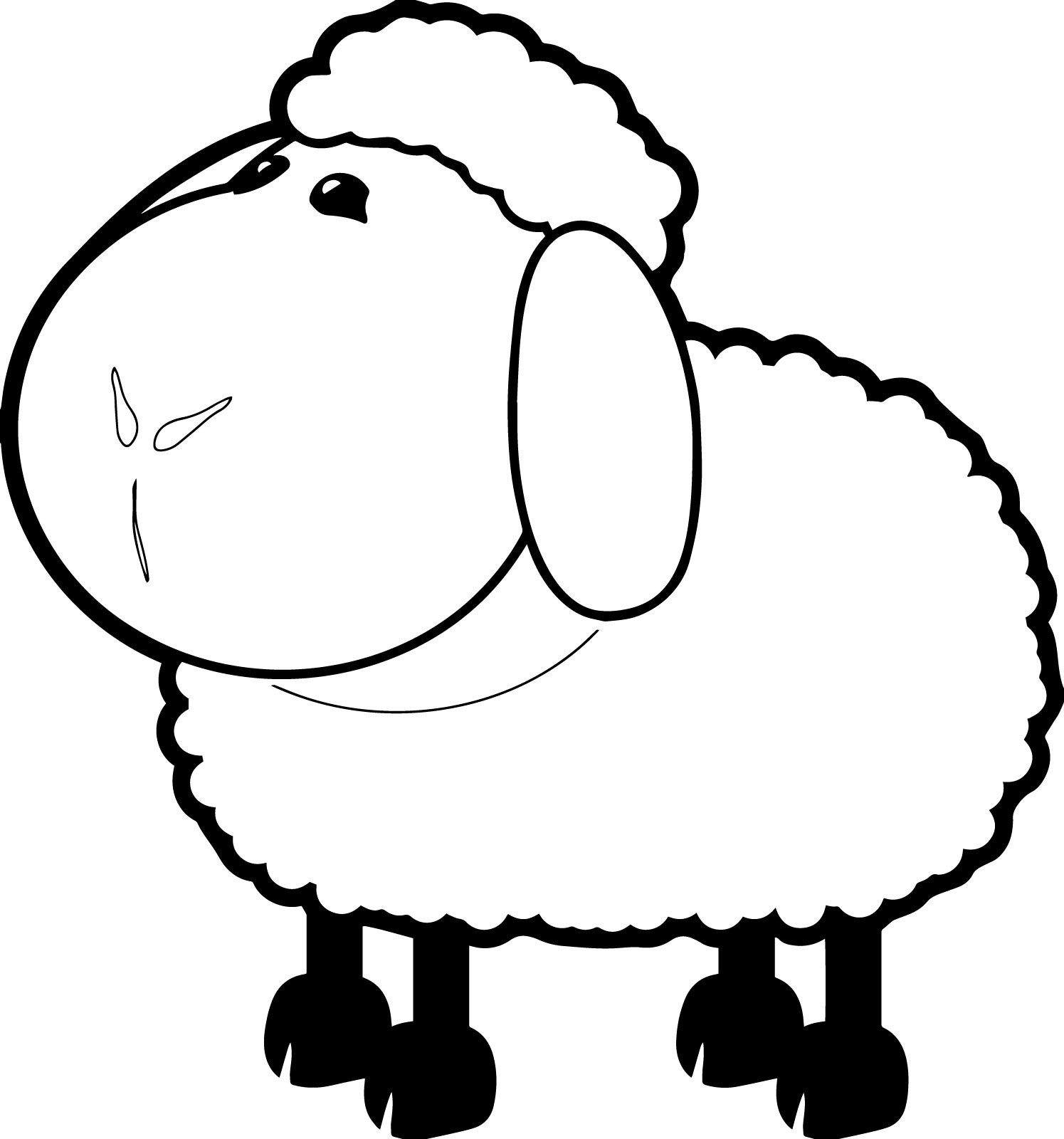 1495x1600 Sheep Coloring Pages Goats